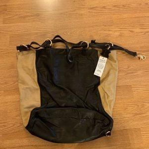 Black and Tan leather satchel